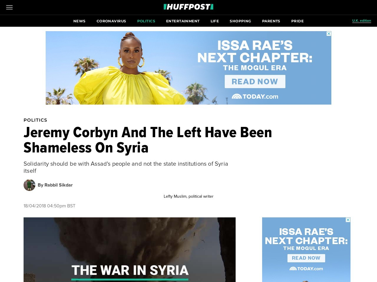 Jeremy Corbyn And The Left Have Been Shameless On Syria