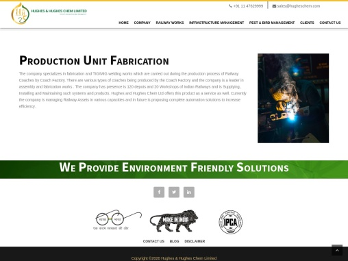 Best Fabrication Manufacturer Companies in India – Hughes and Hughes Chem Ltd