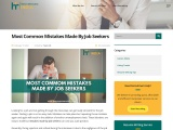 Most Common Mistakes Made By Job Seekers