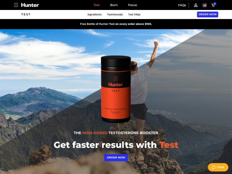 Hunter Test screenshot