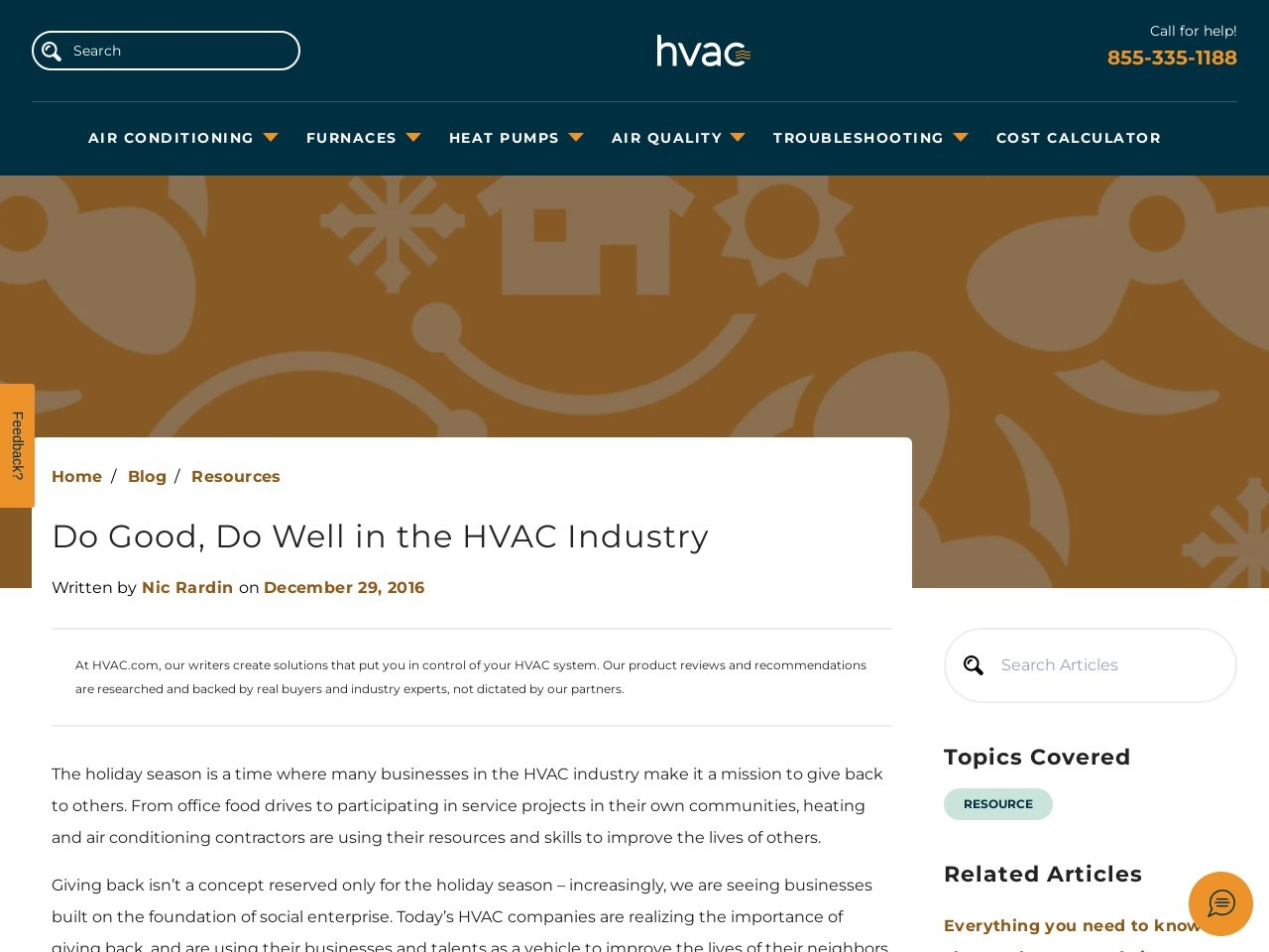 Do Good, Do Well in the HVAC Industry
