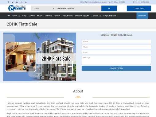 Offering 2 Bhk Flat For Sale In Hyderabad, we can help you find the most ideal 2BHK flats in Hyderab