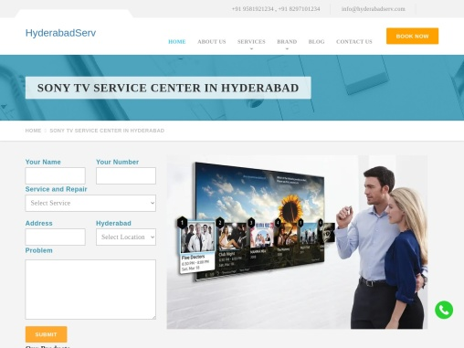 Sony TV Service Center in Hyderabad | 9581921234