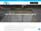 How to clean a blocked drain? 4 Ways