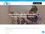 How to Turn Off the Water For Plumbing Repairs Sydney