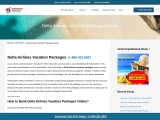Delta Airlines Vacation Packages  +1-860-327-6827
