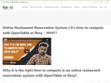 It's time to compete with OpenTable or Resy – WHY?
