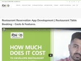 Restaurant Reservation App | How much does it Cost | Features in Restaurant Reservation System