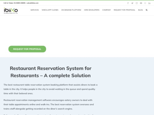 Online Reservation System for Restaurant | OpenTable Booking System – Ibiixo