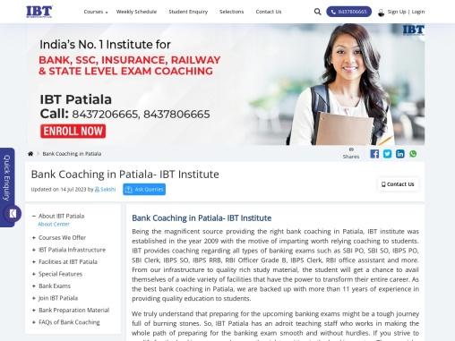 IBT Patiala: Bank Coaching in Patiala