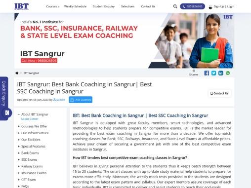 IBT Sangrur: SSC Coaching in Sangrur