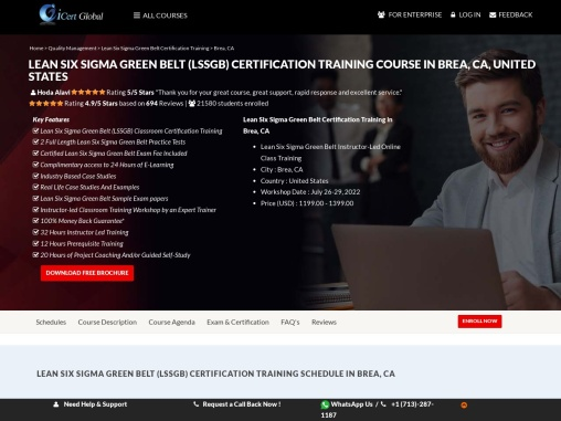 https://www.icertglobal.com/course/Lean-Six-Sigma-Green-Belt-Certification-Training-Brea-CA/Classroo