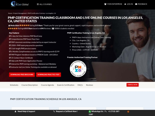PMP® Certification Training Classroom and Live Online Courses in Abilene, TX