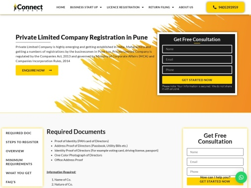 Private Limited Company Registration in Pune | Pvt Ltd Company Registration Pune