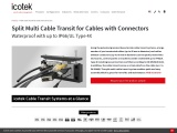 Multi Cable Transit for Cables with Connectors   icotek