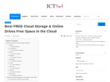 Best FREE Cloud Storage & Online Drives Free Space in the Cloud