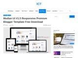 Median Ui V1.5 Responsive Premium Blogger Template Free Download