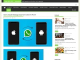 How To Transfer Whatsapp Chats From Android To iPhone?