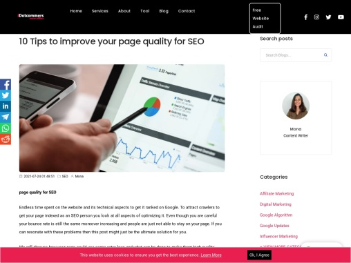 10 Tips to improve your page quality for SEO