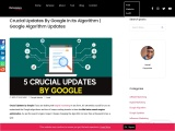 Crucial Updates By Google In Its Algorithm