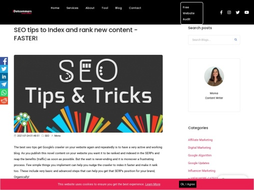 SEO tips to Index and rank new content – FASTER!