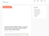 Can Educational Tablets help in covering historical Learning gaps which a child carries from Junior