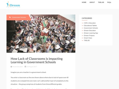 How Lack of Classrooms is impacting Learning in Government Schools