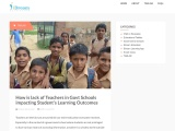 How is lack of Teachers in Govt Schools