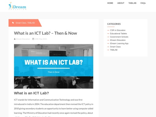 What is an ICT Lab? – Then & Now