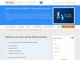 Machine Learning Certification Training Online