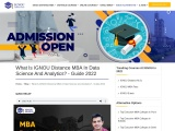What Is IGNOU MBA in Data Science and Analytics? – Guide 2021