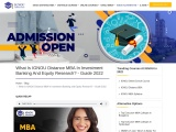What Is IGNOU Distance MBA In Investment Banking And Equity Research? – Guide 2021