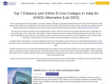 Top 7 Distance and Online B.Com Colleges In India for IGNOU Alternative [List 2021]