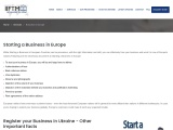 Want to Register or start your business in Europe | Register your business in Ukraine