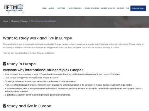 Want to study, work and live in Europe and Ukraine