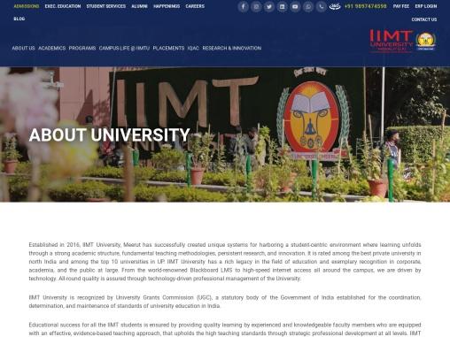 Most Happening Campus – IIMT University -IIMTU