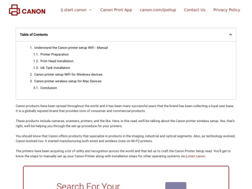 Canon Printer Setup – How to Setup Canon Wireless Printer