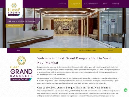 Banquet Halls in Vashi, Navi Mumbai | ileaf Grand Banquets