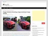 Usage of photo retouching image masking and image editing