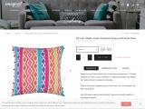 "16""x16"" Multi-color Cushion Cover with Pom Pom"