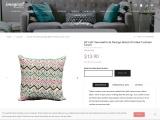 "18""x18"" Geometrical Design Block Printed Cushion Cover"