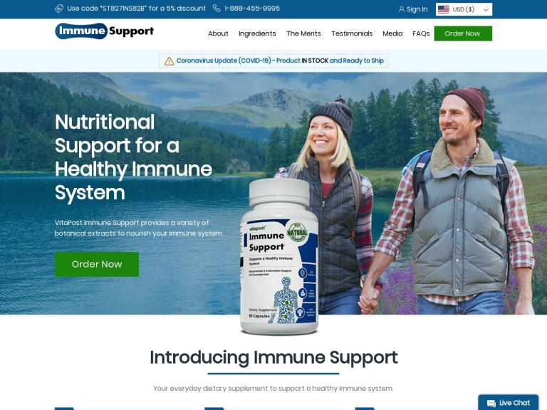 VitaPost Immune Support screenshot