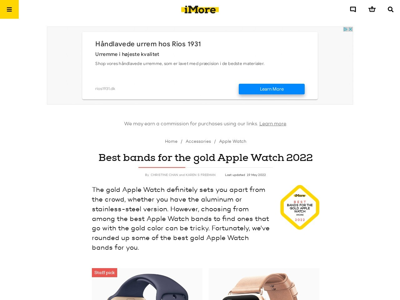 Best Bands for the Gold Apple Watch in 2019