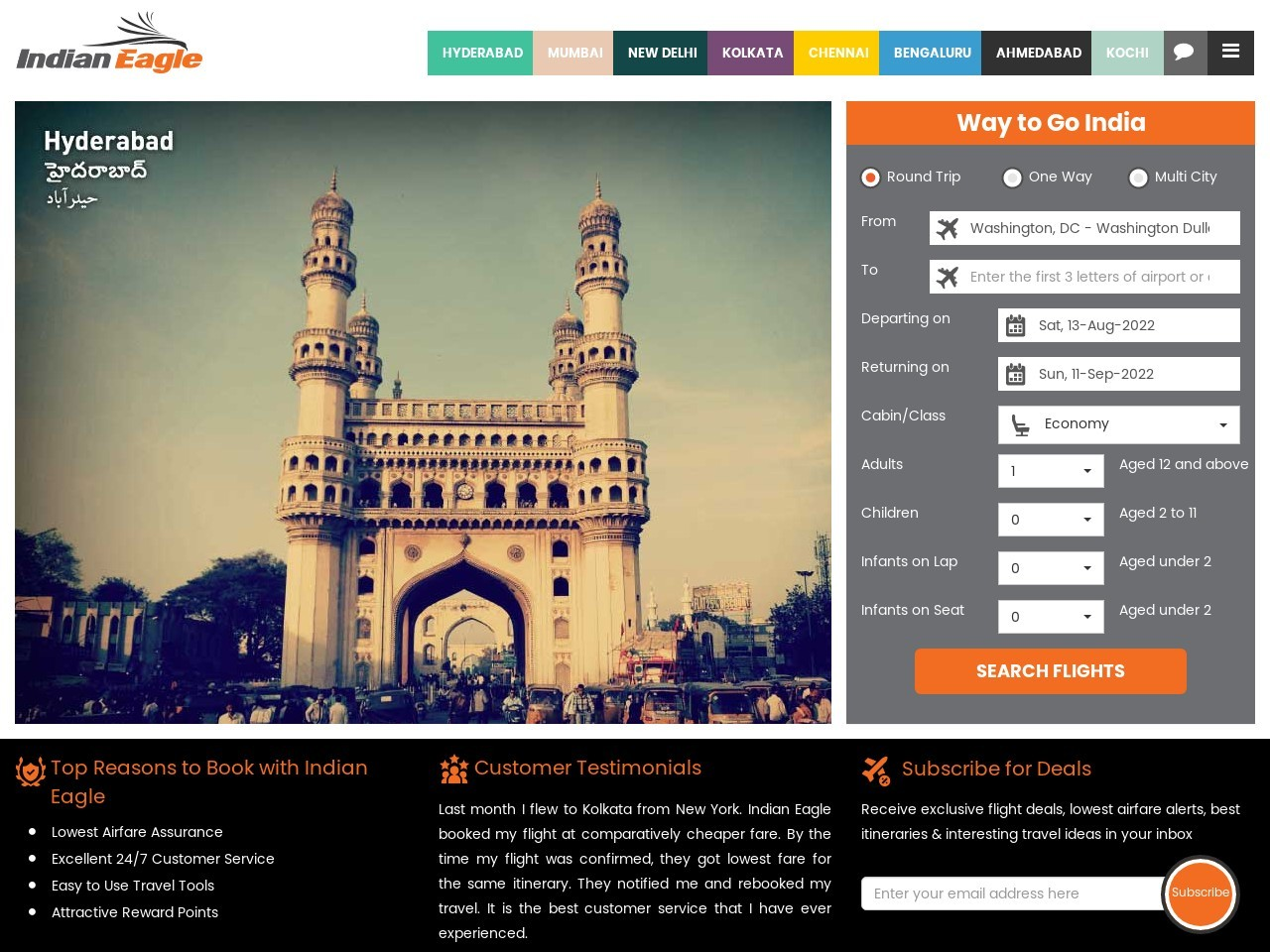 Cheap Flights From Seattle To India – Indian Eagle