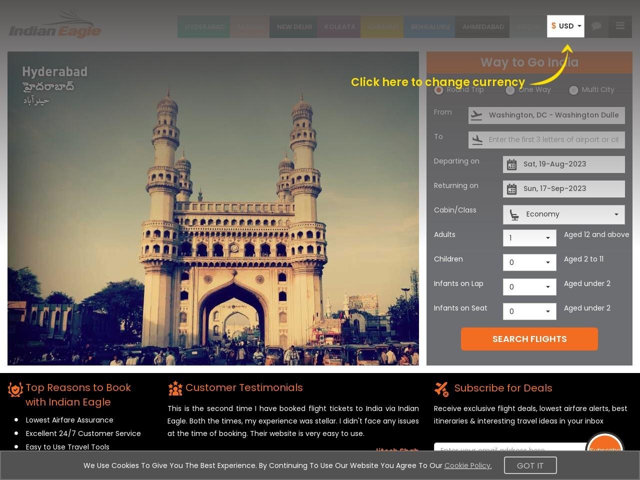 Last Minute Flights To Thiruvananthapuram | Tickets To Thiruvananthapuram | Indian Eagle