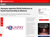Aquapay Payments Technologies has appointed Girish Sankaran as head of partnership and alli