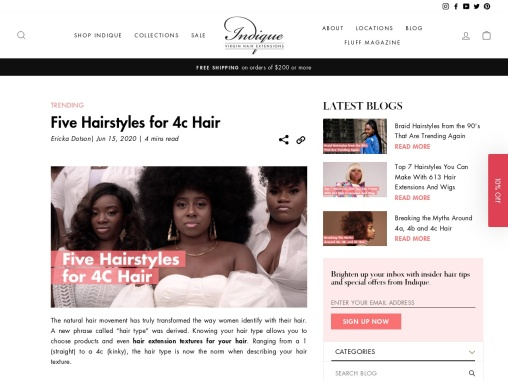 Stylish hairstyles for 4c hair