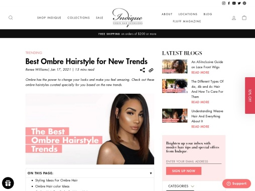 Best Ombre Hairstyle for New Trends