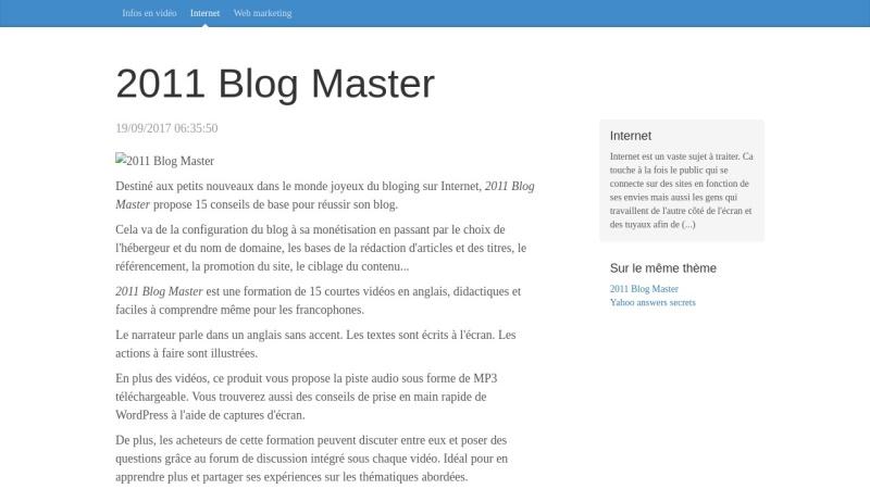 2011 blog master