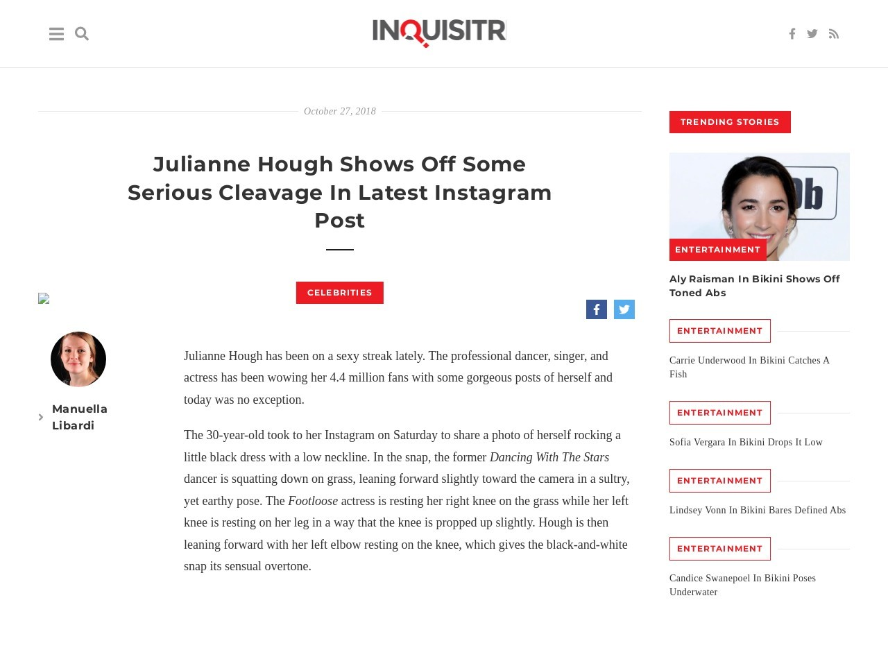 Julianne Hough Shows Off Some Serious Cleavage In Latest Instagram…